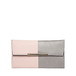 Dorothy Perkins - Grey and pink clutch