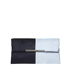 Dorothy Perkins - Blue half tuck clutch bag