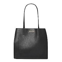 Dorothy Perkins - Black suede side shopper bag