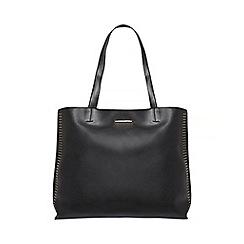 Dorothy Perkins - Black stud side shopper bag
