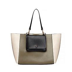Dorothy Perkins - Khaki pocket front shopper bag