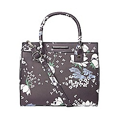 Dorothy Perkins - Navy floral mini slip tote bag