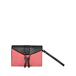 Dorothy Perkins - Pink u bar wristlet clutch bag
