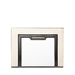 Dorothy Perkins - Neutral edge panel clutch bag
