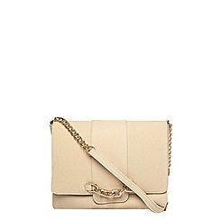 Dorothy Perkins - Cream chain front slouch bag
