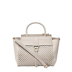 Dorothy Perkins - Grey laser cut tote
