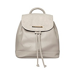 Dorothy Perkins - Grey drawstring backpack