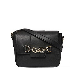 Dorothy Perkins - Black chain front cross body bag