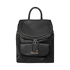 Dorothy Perkins - Black foldover backpack