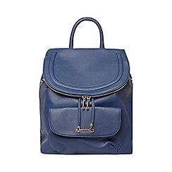 Dorothy Perkins - Blue foldover backpack