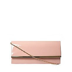 Dorothy Perkins - Blush patent structured clutch