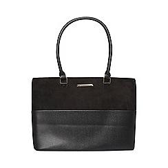 Dorothy Perkins - Black double zip tote bag
