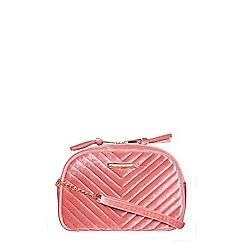 Dorothy Perkins - Pink velvet camera bag