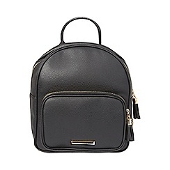 Dorothy Perkins - Black mini zip around backpack