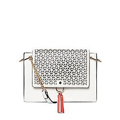 Dorothy Perkins - White laser cut crossbody bag