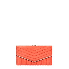Dorothy Perkins - Coral quilt dome purse