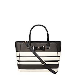 Dorothy Perkins - Lily and Franc mono stripe bow tote