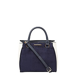 Dorothy Perkins - Navy and bone pipe tote bag