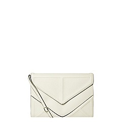 Dorothy Perkins - White padded clutch bag