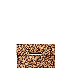 Dorothy Perkins - Leopard faux suede clutch