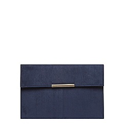 Dorothy Perkins - Navy faux suede clutch