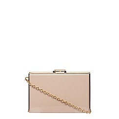 Dorothy Perkins - Nude patent insert box clutch