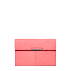 Dorothy Perkins - Pink faux suede clutch