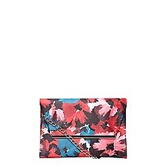 Dorothy Perkins - Printed magnet bar clutch bag
