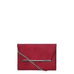 Dorothy Perkins - **lily & franc magenta magnet bar clutch bag