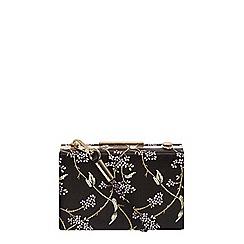 Dorothy Perkins - Black flower satin box clutch bag