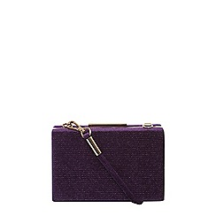 Dorothy Perkins - Purple velvet sparkle clutch bag