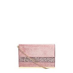 Dorothy Perkins - Velvet glitter clutch bag
