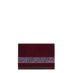 Dorothy Perkins - Pink magenta velvet glitter clutch bag