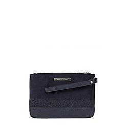 Dorothy Perkins - Navy stripe panel wristlet clutch