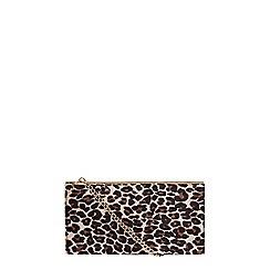 Dorothy Perkins - Leopard structured clutch bag