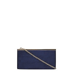 Dorothy Perkins - Navy structured clutch bag