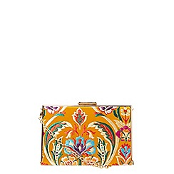 Dorothy Perkins - Yellow oriental box clutch