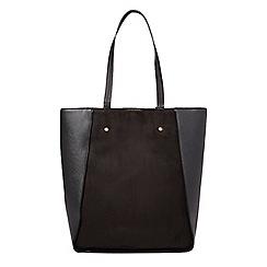 Dorothy Perkins - Black faux suede shopper bag