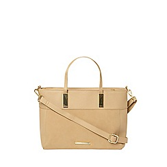 Dorothy Perkins - **Lily & Franc nude structured mini tote bag