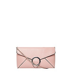 Dorothy Perkins - Pink buckle clutch