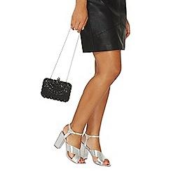 Dorothy Perkins - Black jewel box clutch bag