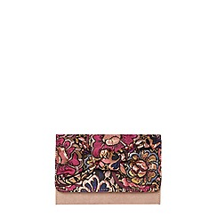 Dorothy Perkins - Pink jacquard bow clutch bag