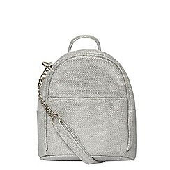 Dorothy Perkins - Silver mini cross body bag