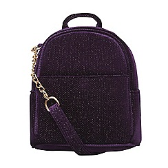 Dorothy Perkins - Purple mini cross body backpack