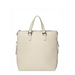 Dorothy Perkins - Grey zip side backpack