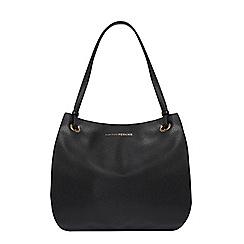Dorothy Perkins - Black eyelet shopper bag