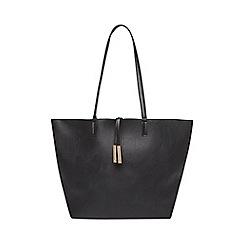 Dorothy Perkins - Black suede back shopper bag