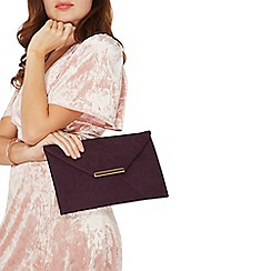 Dorothy Perkins - Blackcurrant envelope clutch bag