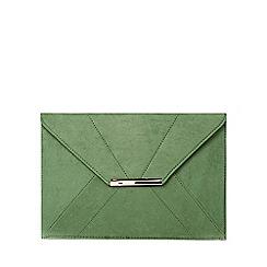 Dorothy Perkins - Green envelope clutch