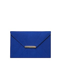 Dorothy Perkins - Cobalt envelope clutch bag